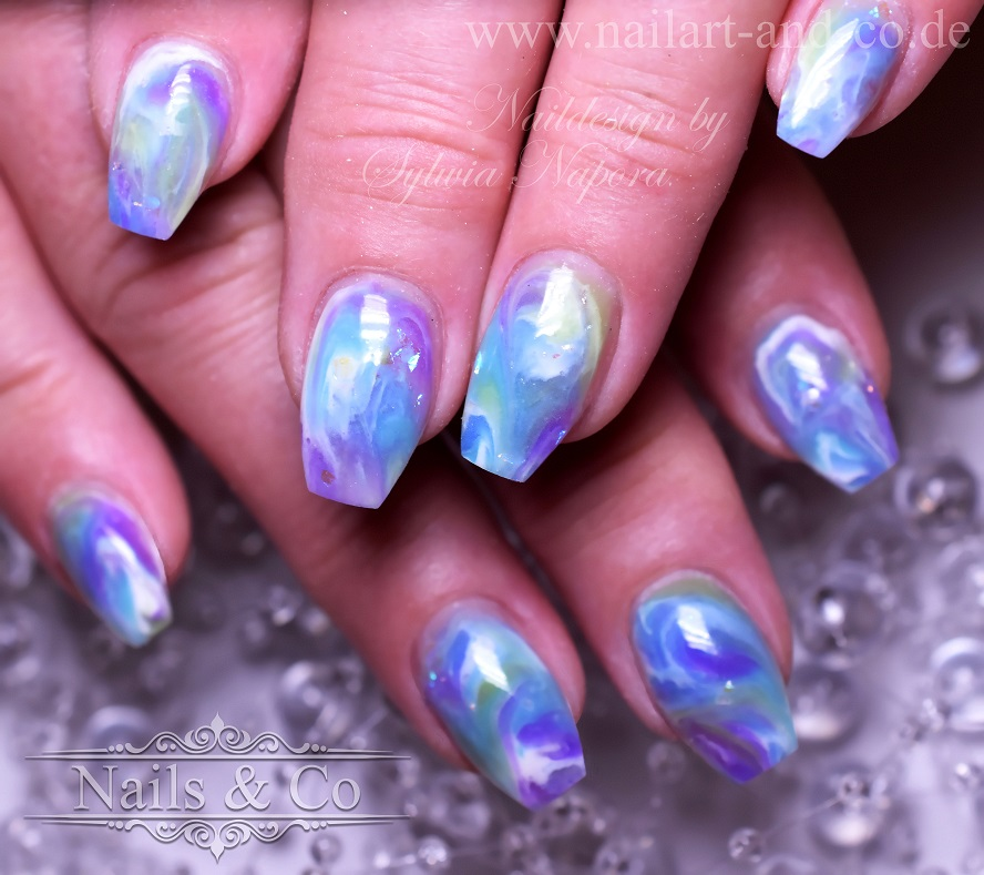 Marmor Nail Art