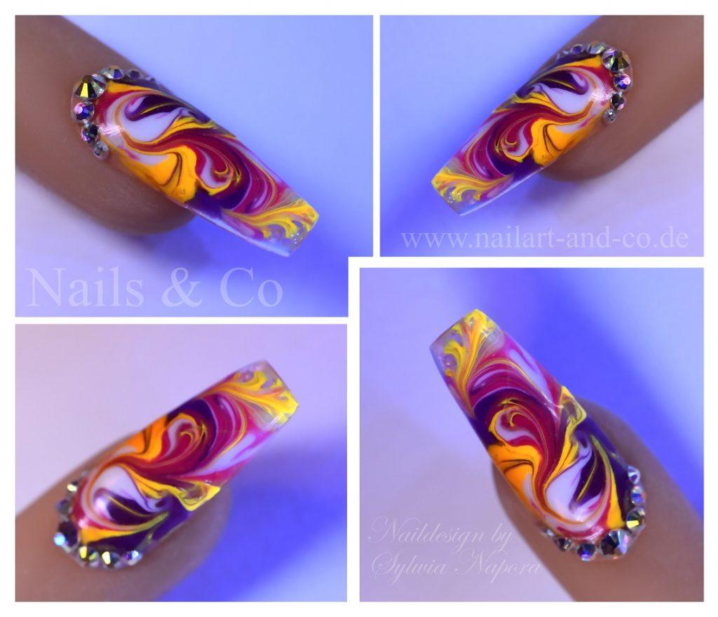 Marmorierung Nail Art