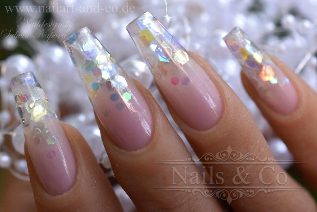 Glas Spitzen Nails