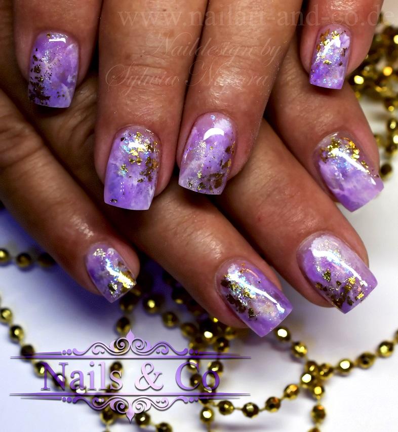 Amethyst Marmor Nails
