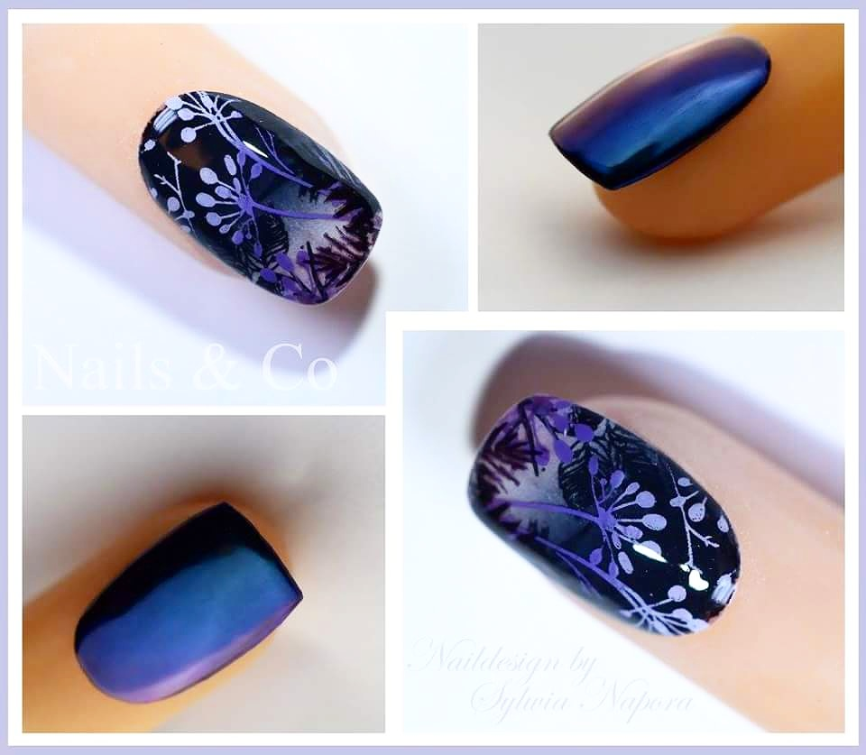 Halloween Nageldesign, Herbst Nail Art, Chrome Fullcover