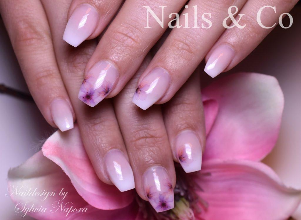Blüten Nail Art, Babyboomer