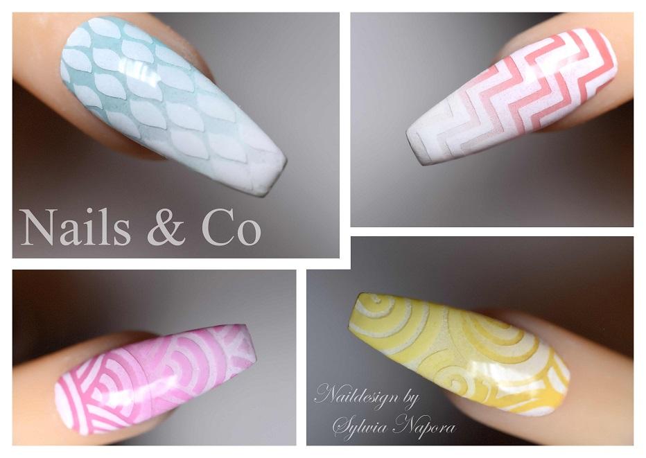 Nail Art pastell, grafisch
