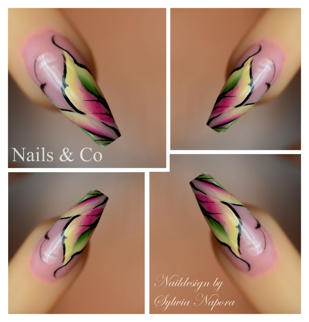 Handgemalt Nail Art