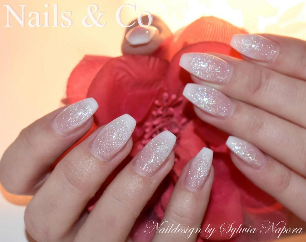 Winter Nail Art, Glitzer Babyboomer