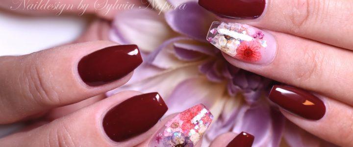 Getroknete Blumen, Nail Art
