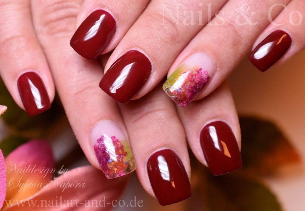 Dry Flower Nail art