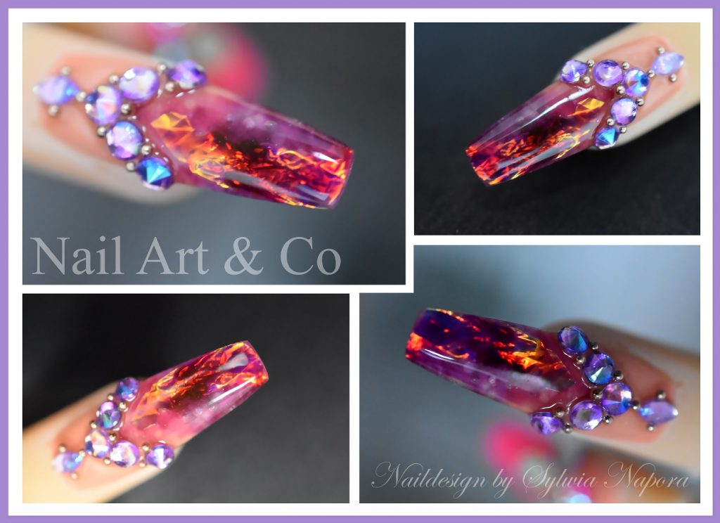 Fire & Ice Nails, Feuer und Eis Nageldesign