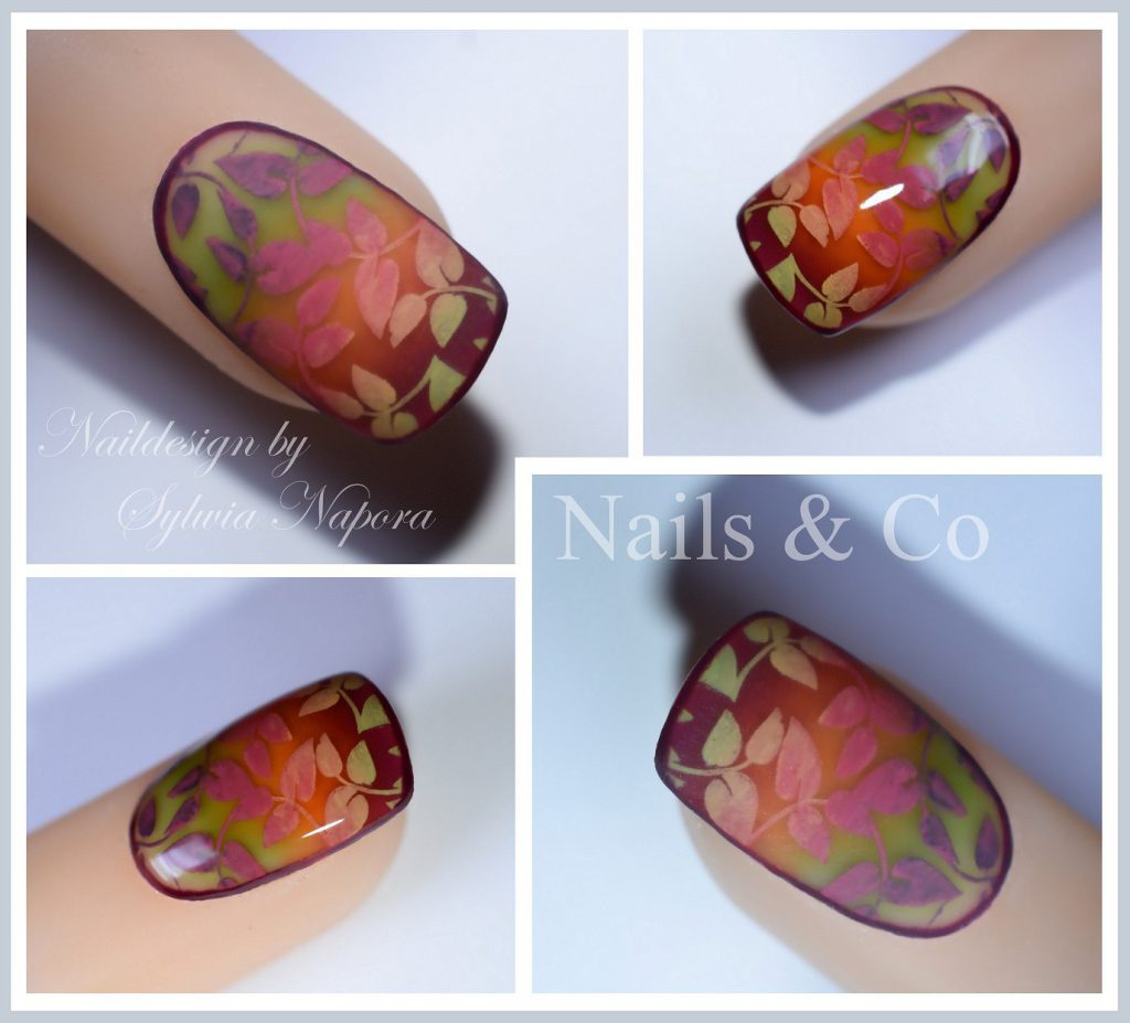 Herbst Nail Art matt